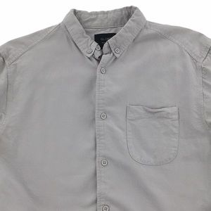 Globe Gray Long Sleeve Button Up Shirt Men's S